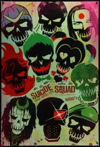 2655UF SUICIDE SQUAD teaser DS 1sh 2016 Smith, Leto as the Joker, Robbie, Kinnaman, cool art!