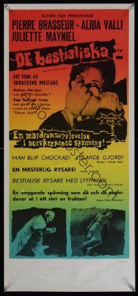 1165UF EYES WITHOUT A FACE Swedish stolpe '62 Georges Franju's Les Yeux Sans Visage, different!