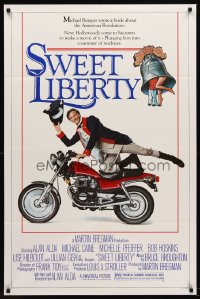 2389FF SWEET LIBERTY 1sh '86 star/director Alan Alda, Michelle Pfeiffer, Michael Caine