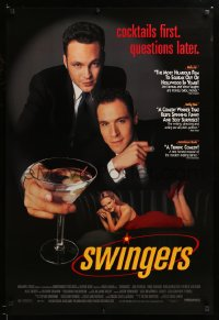 2390UF SWINGERS 1sh '96 Vince Vaughn & Jon Favreau, cocktails first, questions later!