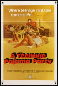 1489TF TEENAGE PAJAMA PARTY 1sh '77 C.J. Laing, Terry Hall, Gignilliat art of sexy teens!