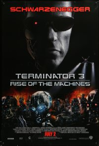 2396UF TERMINATOR 3 int'l advance 1sh '03 Arnold Schwarzenegger, cool image of killer cyborg army!