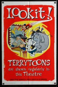 0770FF TERRYTOONS 1sh '62 great art of Mighty Mouse & Paul Terry's other creations!