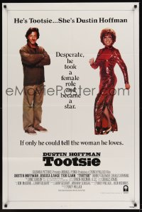 0430FF TOOTSIE man&woman int'l 1sh '82 full-length Dustin Hoffman as himself and in drag!