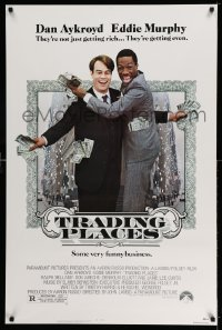 2400UF TRADING PLACES 1sh '83 Dan Aykroyd & Eddie Murphy are getting rich & getting even, Landis!