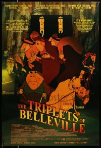 2401 TRIPLETS OF BELLEVILLE DS 1sh '03 Les Triplettes de Bellville, cool French cartoon!