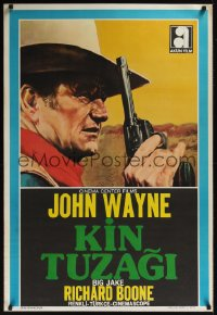0861UF BIG JAKE Turkish '71 great image of John Wayne with gun!