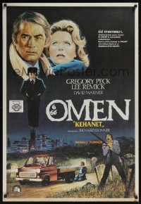 0868UF OMEN Turkish '76 Gregory Peck, Lee Remick, Satanic horror, different art by Ugurcan!