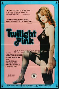 1494TF TWILIGHT PINK 1sh '81 sexy Veronica Hart in black lingerie & nylons!