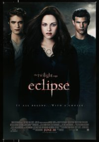 2406UF TWILIGHT SAGA: ECLIPSE advance DS 1sh '10 Kristen Stewart, Robert Pattinson, Taylor Lautner!
