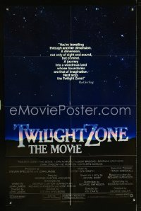 0779FF TWILIGHT ZONE int'l intro style 1sh '83 classic text from Rod Serling TV series, Spielberg