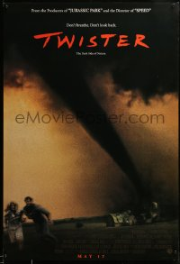 2409UF TWISTER int'l advance DS 1sh '96 May 17 style, Bill Paxton & Helen Hunt tornados!