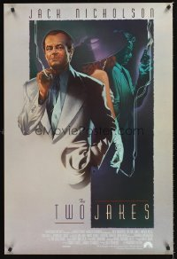 1230UF TWO JAKES int'l 1sh '90 cool full-length art of smoking Jack Nicholson by Rodriguez!