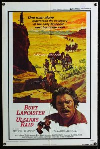 0780FF ULZANA'S RAID int'l 1sh '72 artwork of Burt Lancaster by Don Stivers, Robert Aldrich