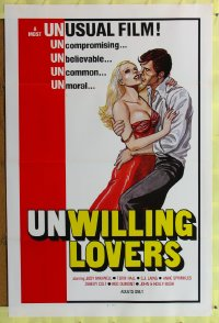 441TF UNWILLING LOVERS one-sheet '77 sexy Jody Maxwell!