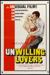 1496TF UNWILLING LOVERS 1sh '77 uncompromising, unbelievable, great art of very sexy Jody Maxwell!