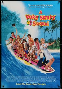 2413UF VERY BRADY SEQUEL advance 1sh '96 Shelley Long, Gary Cole, Matheson, top cast surfing!