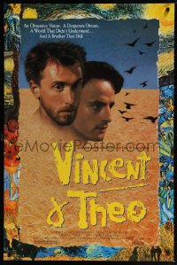 2414UF VINCENT & THEO 1sh '90 Robert Altman meets Tim Roth as Vincent van Gogh, cool artwork!