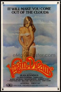 1497TF VIRGIN DREAMS 1sh '77 art of sexy naked Jean Jennings covered only by wispy clouds!