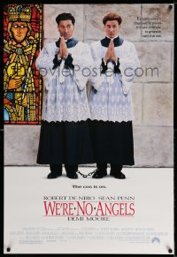 2416UF WE'RE NO ANGELS 1sh '89 wacky image of fake priests Robert De Niro & Sean Penn!