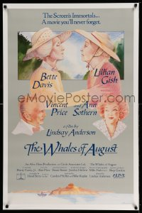 2418UF WHALES OF AUGUST 1sh '87 Castle art of elderly Bette Davis & Lillian Gish, Lindsay Anderson!