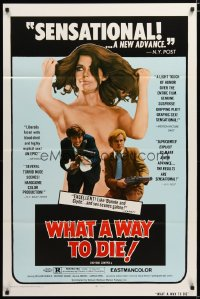 1501TF WHAT A WAY TO DIE 1sh '70 Sommersprossen, William Mishkin, Bonnie & Clyde with sex!