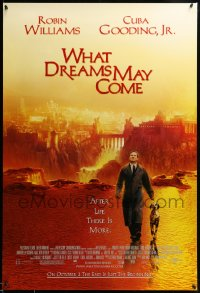 2419UF WHAT DREAMS MAY COME advance DS 1sh '98 great image of Robin Williams in the afterlife!