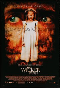 2421UF WICKER MAN advance 1sh '06 Nicolas Cage, Anthony Shaffer, wild horror image of scary child!