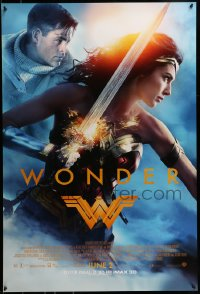 2650UF WONDER WOMAN advance DS 1sh 2017 sexiest Gal Gadot in title role/Diana Prince, Chris Pine