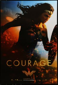 2654UF WONDER WOMAN teaser DS 1sh 2017 sexiest Gal Gadot in title role/Diana Prince, Courage!