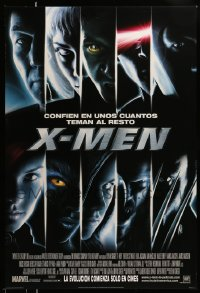 2425UF X-MEN DS style C int'l Spanish advance 1sh '00 Bryan Singer, Marvel Comics super heroes!