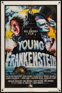 0469TF YOUNG FRANKENSTEIN int'l 1sh '74 Mel Brooks, art of Gene Wilder, Peter Boyle & Marty Feldman!