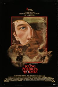 1642UF YOUNG SHERLOCK HOLMES 1sh '85 Steven Spielberg, Nicholas Rowe, really cool detective art!