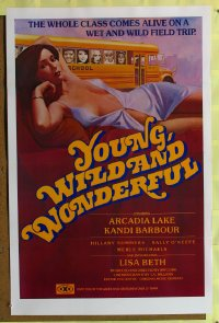 470TF YOUNG, WILD & WONDERFUL 1sh81 great sexy artwork!