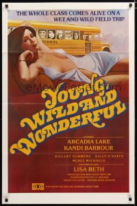 1502TF YOUNG, WILD & WONDERFUL 1sh '80 Arcadia Lake, Kandi Barbour, sexy artwork!