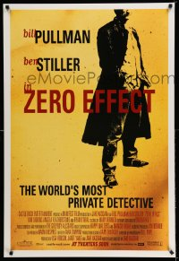2431UF ZERO EFFECT advance DS 1sh '98 Bill Pullman, Ben Stiller, the world's most private detective!