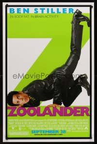 1236UF ZOOLANDER advance 1sh '01 Ben Stiller, 3 percent body fat, 1 percent brain activity!