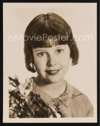 1238 MITZI GREEN 5.5x7 fan photo '30 the child actress smiling with facsimile signature!