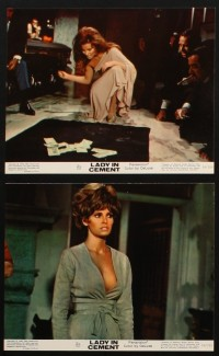 1367 LADY IN CEMENT 8 color 8x10 stills '68 detective Frank Sinatra & sexy Raquel Welch!