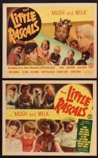 1260 MUSH & MILK 4 LCs R50 Little Rascals, Farina, Dickie Moore, cute images of Our Gang kids!