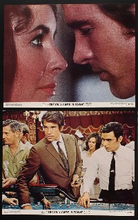 1199 ONLY GAME IN TOWN 8 deluxe color 11x14 stills '70 Elizabeth Taylor & Warren Beatty in Vegas!
