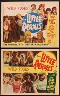 1264 WILD POSES 4 LCs R52 Our Gang, Spanky, Buckwheat, Little Rascals, cute images!