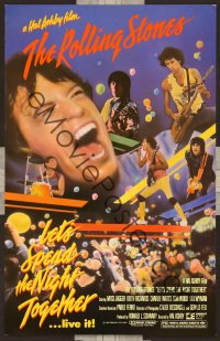 1114 LET'S SPEND THE NIGHT TOGETHER trade-ad '83 great image of Mick Jagger & The Rolling Stones!