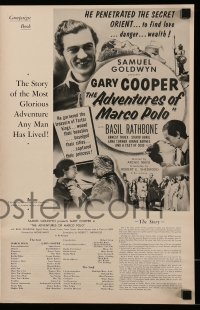 2594 ADVENTURES OF MARCO POLO English language pressbook R54 Gary Cooper, Basil Rathbone, Gurie