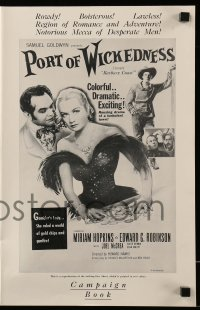 2598 BARBARY COAST pressbook R54 Edward G. Robinson, Miriam Hopkins, Hawks, Port of Wickedness
