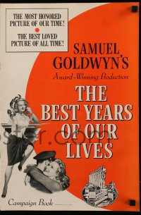 2599 BEST YEARS OF OUR LIVES pressbook R54 Dana Andrews, Teresa Wright, sexy Virginia Mayo!