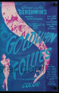 2608 GOLDWYN FOLLIES pressbook R44 incredible different Al Hirschfeld cast montage art!