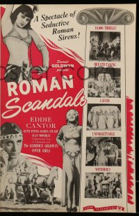 2616 ROMAN SCANDALS pressbook R46 great images of wacky Eddie Cantor and elaborate routines!