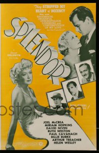 2618 SPLENDOR pressbook R44 Miriam Hopkins, Joel McCrea, Paul Cavanagh, Westley!