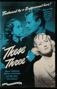 2620 THESE THREE pressbook R46 Miriam Hopkins, Merle Oberon & Joel McCrea, William Wyler!